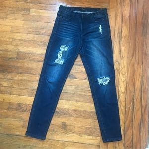 KanCan stretch distressed dark denim skinny jean